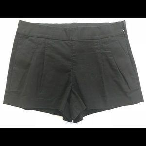 NWOT J. Crew Black Twill Pleated Shorts sz 4